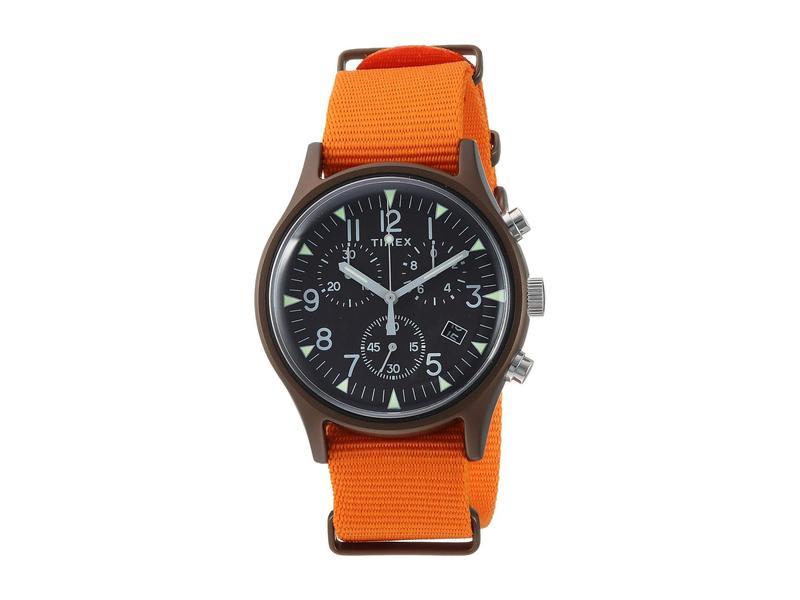 タイメックス メンズ 腕時計 アクセサリー MK1 Aluminum 3-Hand Black/Orange 1