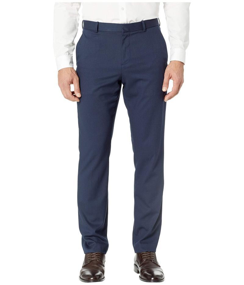 ペリーエリス メンズ カジュアルパンツ ボトムス Slim Fit Solid Textured Dress Pants Bay Blue