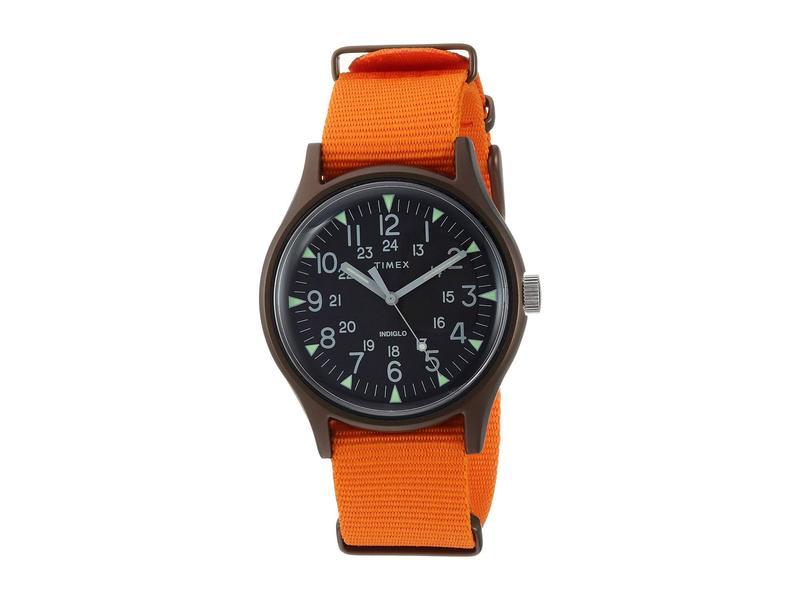 タイメックス メンズ 腕時計 アクセサリー MK1 Aluminum 3-Hand Black/Orange