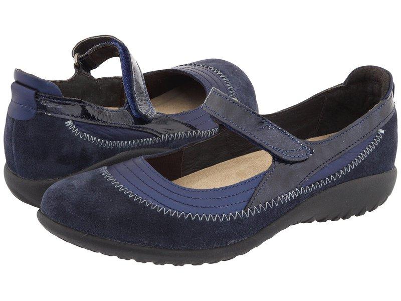 ナオト レディース サンダル シューズ Kirei Polar Sea Leather/Blue Velvet Suede/Navy Patent Leather