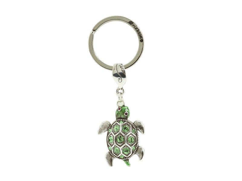 ブライトン レディース キーケース・キーリング アクセサリー Marvel's Turtle Key Fob Silver/Enamel/Stone