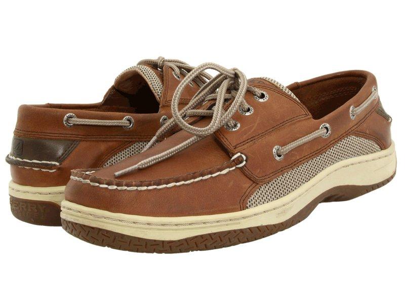 スペリー メンズ デッキシューズ シューズ Billfish 3-Eye Boat Shoe Dark Tan