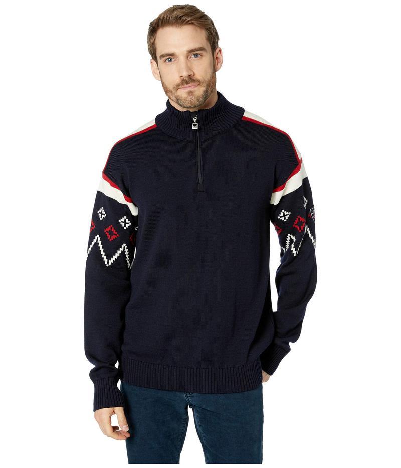 ダールオブノルウェイ メンズ ニット・セーター アウター Seefeld Masculine Sweater C-Navy/Raspberry/Off-White