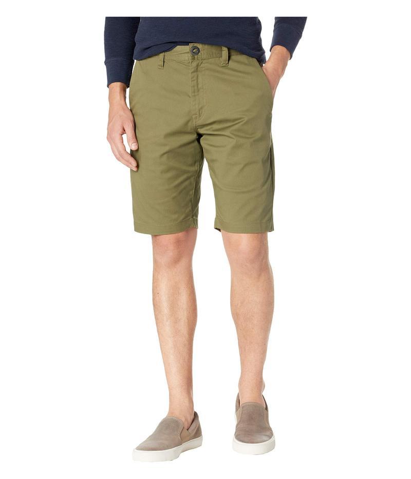 ボルコム メンズ ハーフパンツ・ショーツ ボトムス Frickin Modern Stretch Chino Shorts Vineyard Green