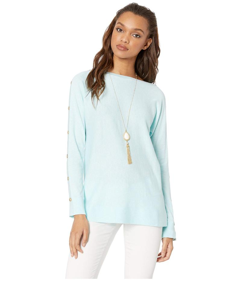 リリーピュリッツァー レディース ニット・セーター アウター Milton Boat Neck Sweater Heathered Whisper Blue