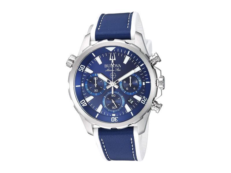 ブロバ メンズ 腕時計 アクセサリー Marine Star - 96B287 Blue