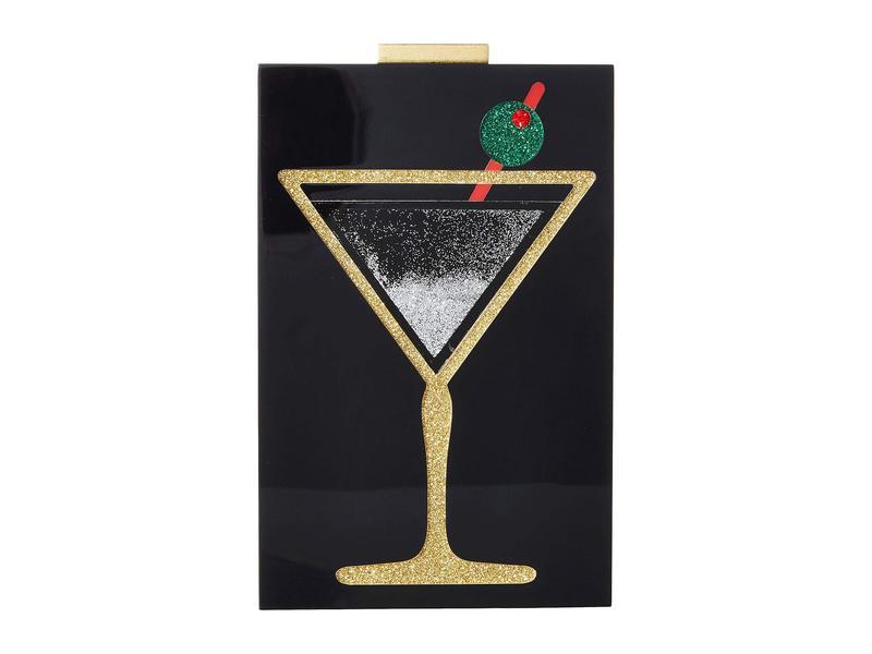 アリス アンド オリビア レディース ハンドバッグ バッグ Martini Glitter Quicksand Lucite Clutch Multi