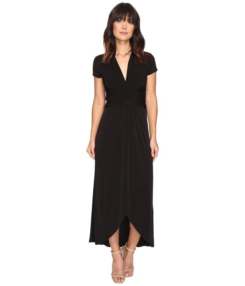 マイケルコース レディース ワンピース トップス Short Sleeve Maxi Wrap Dress Black