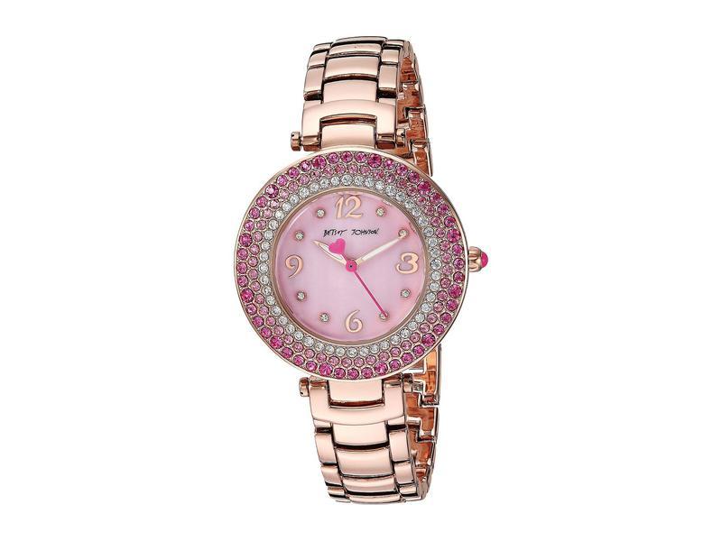 ベッツィジョンソン レディース 腕時計 アクセサリー 37BJ00699-01BX Pink Crystals Rose Gold