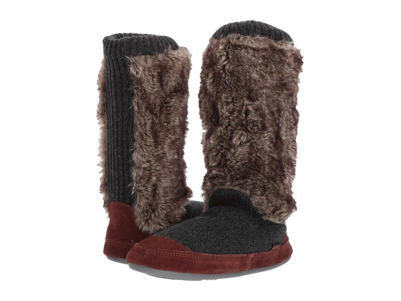 エイコーン レディース サンダル シューズ Slouch Boot Charcoal Fur