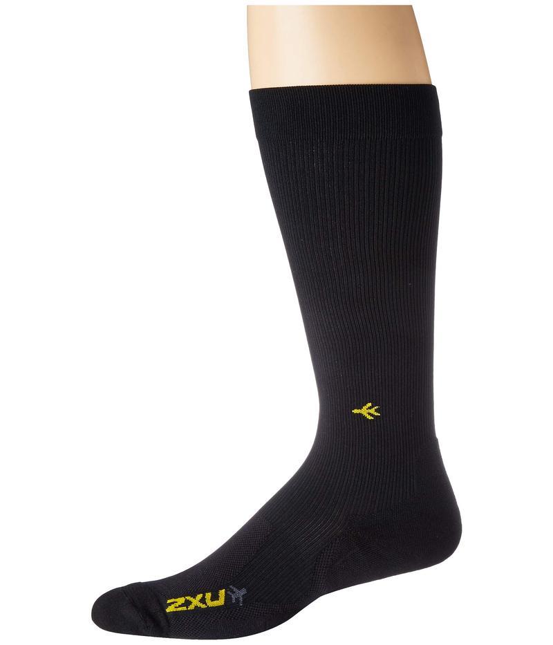 2XU メンズ 靴下 アンダーウェア Flight Compression Socks - Light Cushion Black/Black