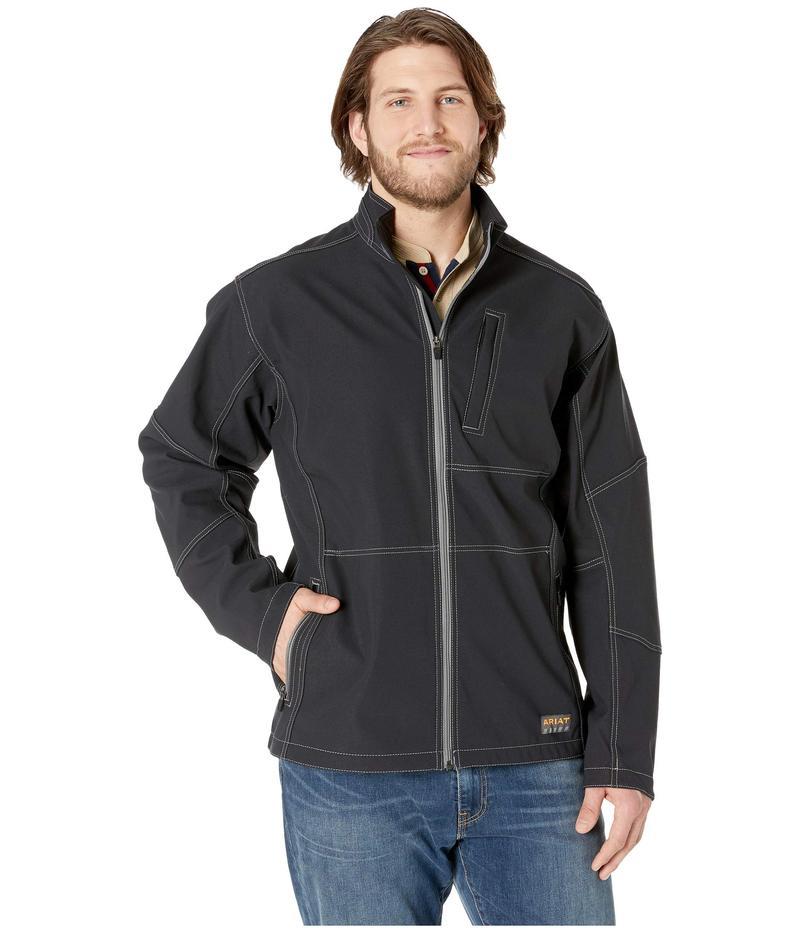 アリアト メンズ コート アウター Big & Tall Rebar Stretch Canvas Softshell Jacket Black