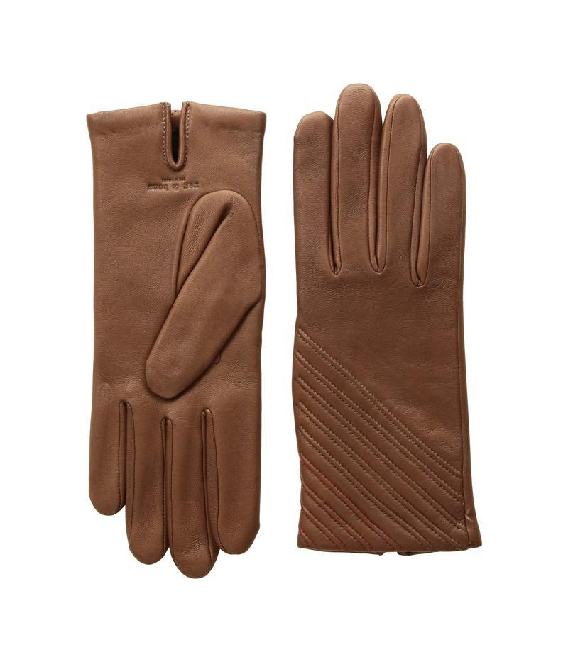 ラグアンドボーン レディース 手袋 アクセサリー Slant Gloves Dark Brown
