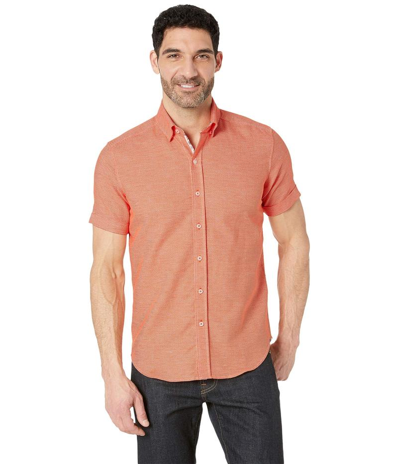 ロバートグラハム メンズ シャツ トップス Liam Short Sleeve Woven Shirt Orange