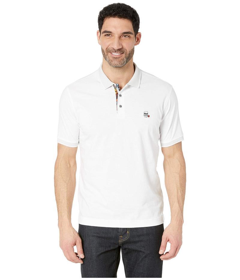 ロバートグラハム メンズ シャツ トップス Easton Short Sleeve Knit Polo White