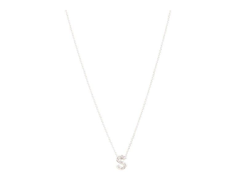 ロバートコイン Roberto レディース ネックレス・チョーカー・ペンダントトップ アクセサリー Coin Roberto Coin Diamond Initial Initial Necklace White Gold-S, アサヒシューズ直営店:4e8d9dfc --- idia-africa.com