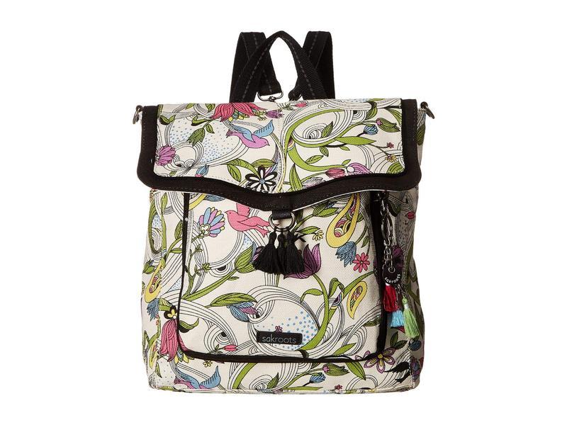 サックルーツ レディース バックパック・リュックサック バッグ Colette Convertible Backpack White Peace Dove