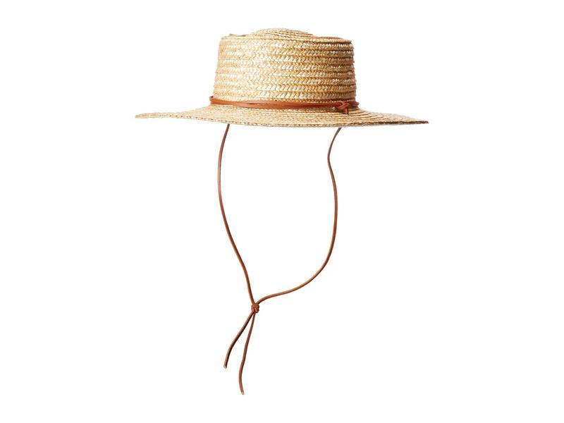 サンディエゴハット レディース 帽子 アクセサリー WSH1201 - Wheat Straw Hat with Leather Chin Cord Natural
