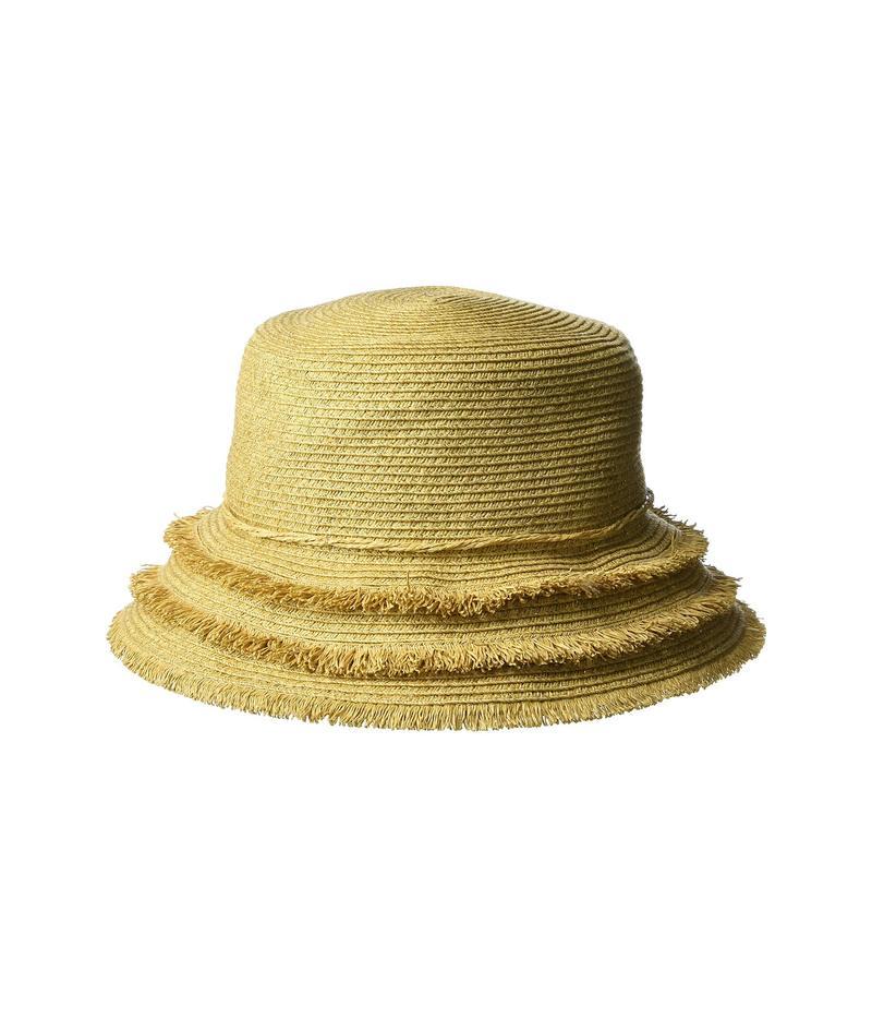 スカラ レディース 帽子 アクセサリー Paper Braid Bucket Toast
