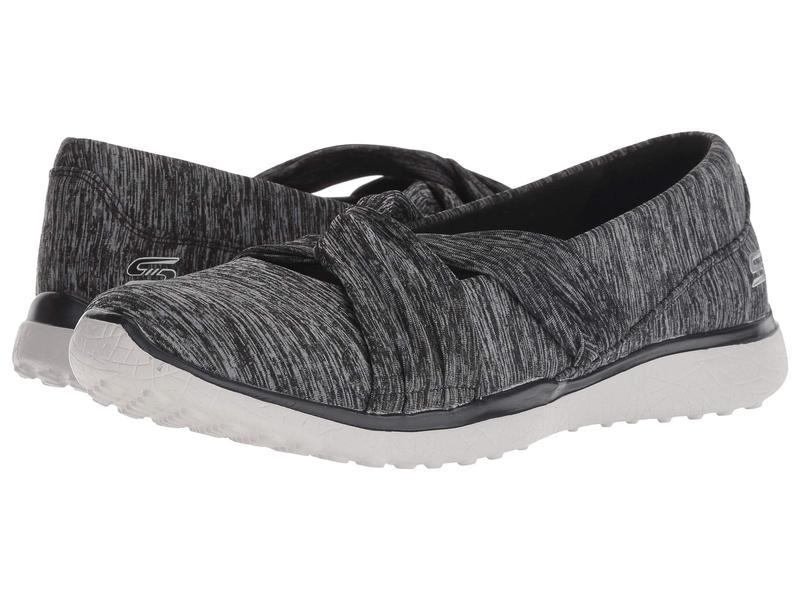 スケッチャーズ レディース スニーカー シューズ Microburst - Knot Concerned Black/Grey