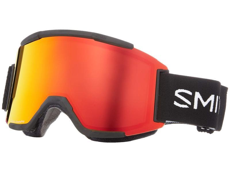 スミスオプティックス メンズ サングラス・アイウェア アクセサリー Squad Goggle Black/Chromapop Everyday Red Mirror/Yellow
