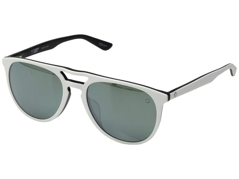 スパイオプティック メンズ サングラス・アイウェア アクセサリー Syndicate Matte White/Black/Happy Gray Green/Silver Spectra Mirror