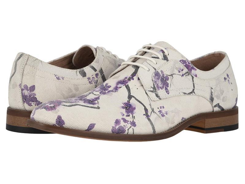 ステイシーアダムス メンズ オックスフォード シューズ Dandy Plain Toe Print Oxford Lavender