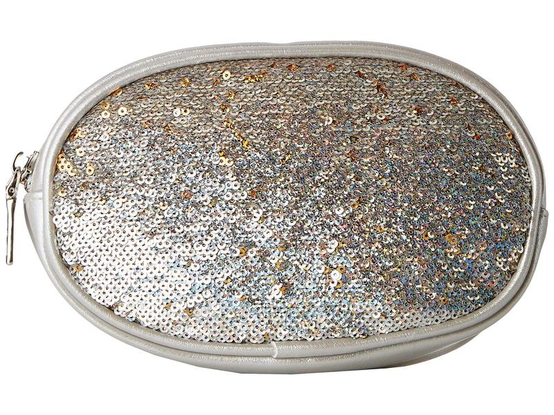 スティーブ マデン レディース ボディバッグ・ウエストポーチ バッグ Sequin Inlay Belt Bag Silver