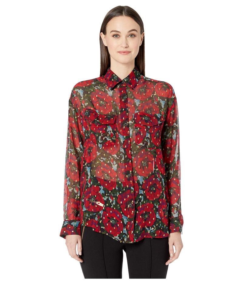 ザ・クープルス レディース シャツ トップス Giant Poppy Shirt Red/Green