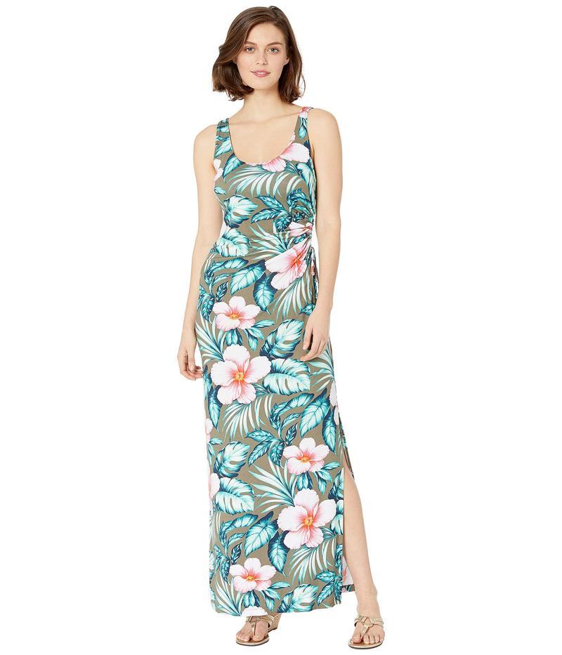トッミーバハマ レディース ワンピース トップス Flora Bora Maxi Tank Dress Tea Leaf