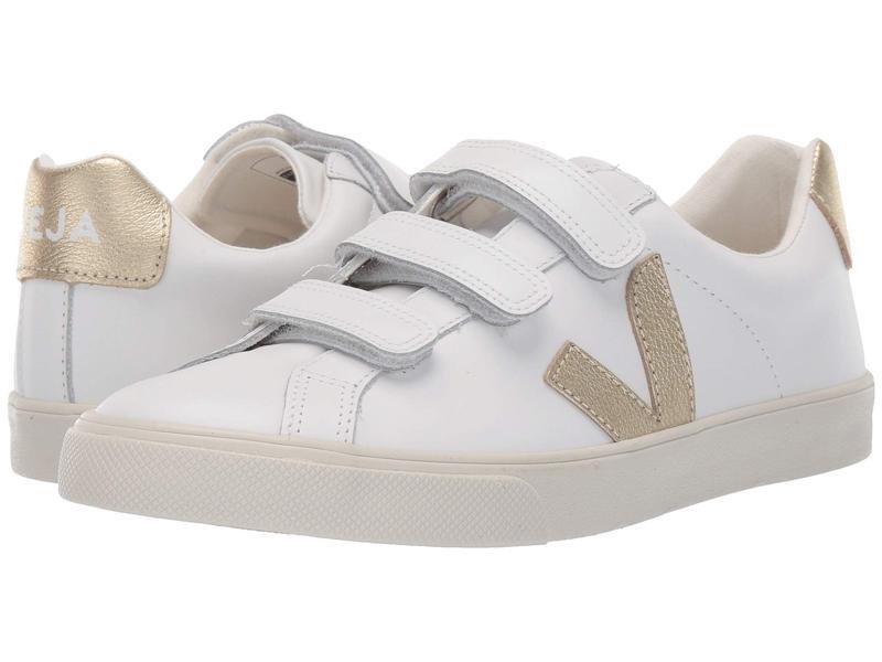 ヴェジャ レディース スニーカー シューズ 3-Lock Logo Extra White/Gold Leather