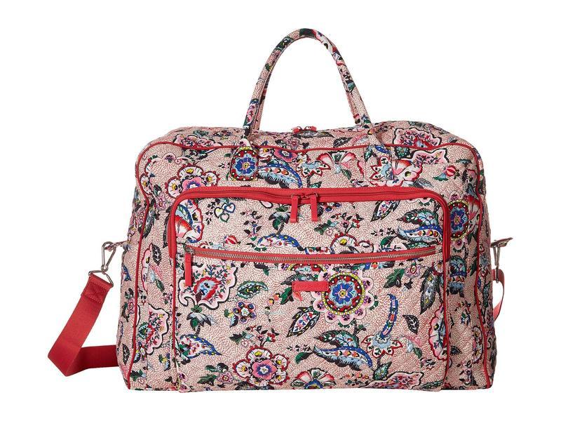 ベラブラッドリー レディース ボストンバッグ バッグ Iconic Grand Weekender Travel Bag Stitched Flowers