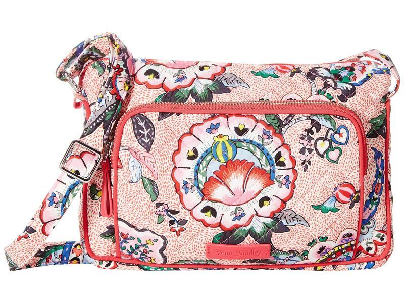 ベラブラッドリー レディース ハンドバッグ バッグ Iconic RFID Little Hipster Stitched Flowers