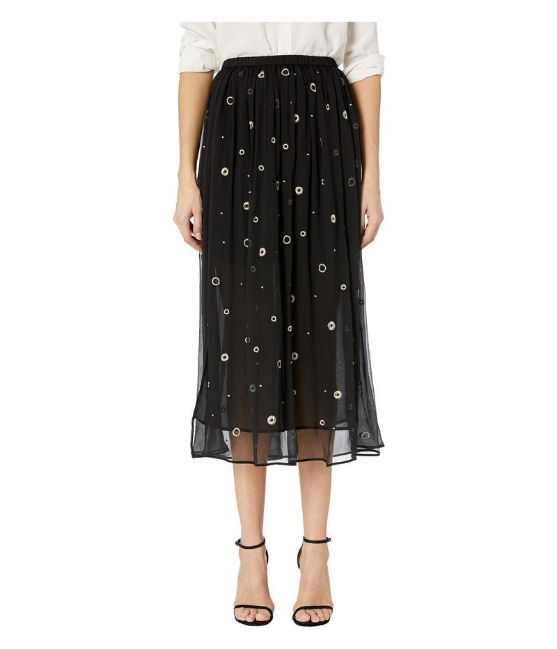 ヴィンス レディース スカート ボトムス Metallic Embroidery Skirt Black