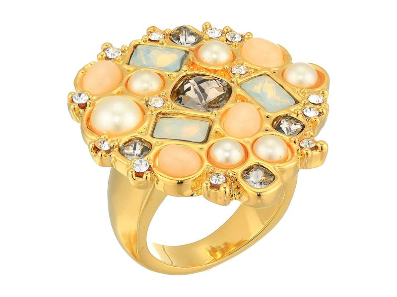 ヴィンスカムート レディース リング アクセサリー Statement Ring Gold/Carnelian Cats Eye/Ivory/Greige/Sand Opal/Crystal