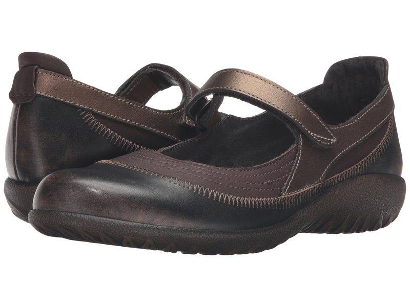 ナオト レディース サンダル シューズ Kirei Brown Shimmer Nubuck/Volcanic Brown Leather/Grecian Gold Leather