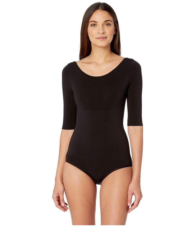 ユーミー レディース シャツ トップス Ballet Back Bodysuit Black