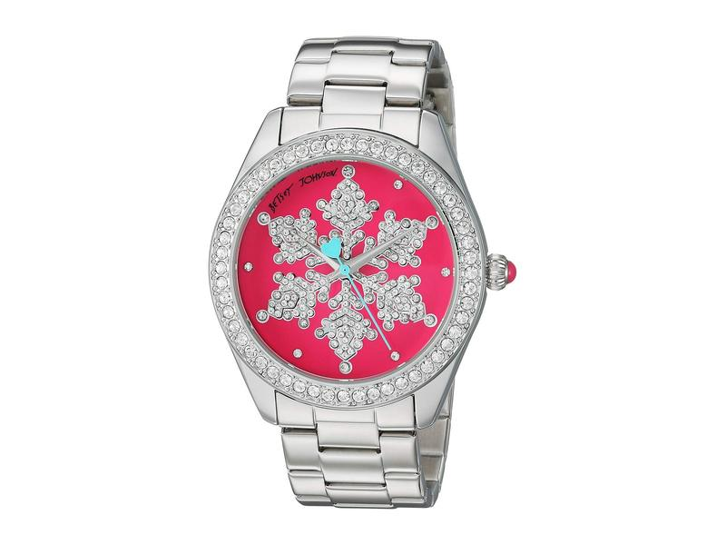 ベッツィジョンソン レディース 腕時計 アクセサリー BJ00048-287 - Snowflake Motif Pink Dial Watch Pink