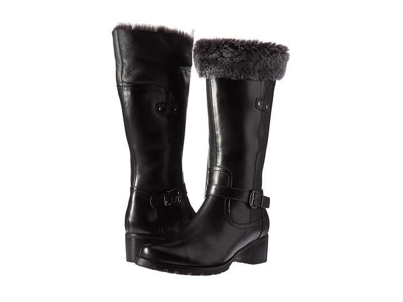 ブロンド レディース ブーツ・レインブーツ シューズ Flavia Waterproof Black Leather