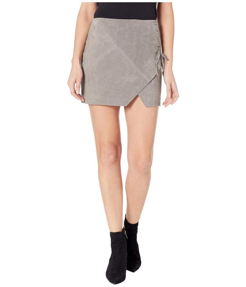 ブランクニューヨーク レディース スカート ボトムス Suede Mini Skirt in Soft Fog Soft Fog
