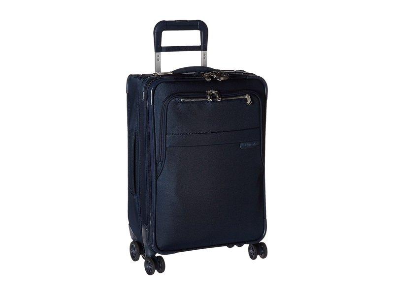 ブリグスアンドライリー メンズ ボストンバッグ バッグ Baseline Domestic Carry-On Expandable Spinner Navy Blue