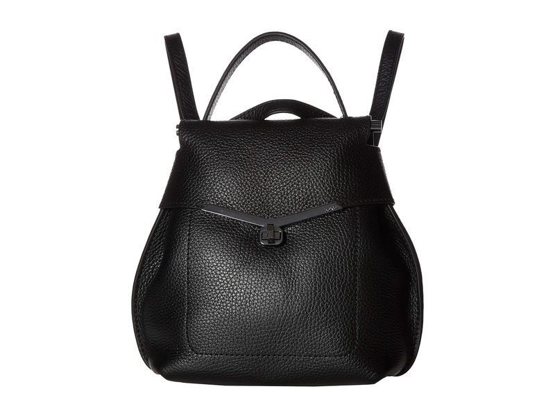 ボトキエ レディース バックパック・リュックサック バッグ Valentina Mini Wrap Backpack Black
