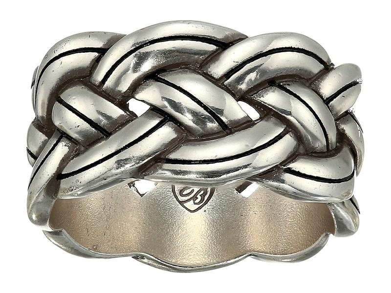 ブライトン レディース リング アクセサリー Interlok Ring Silver