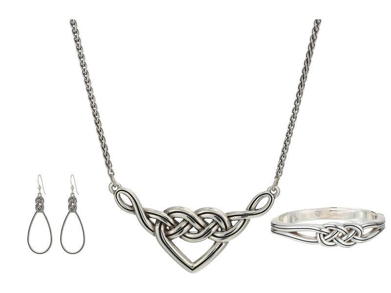 ブライトン レディース ネックレス・チョーカー・ペンダントトップ アクセサリー Gifts From The Heart - Interlok Knot Collection Silver