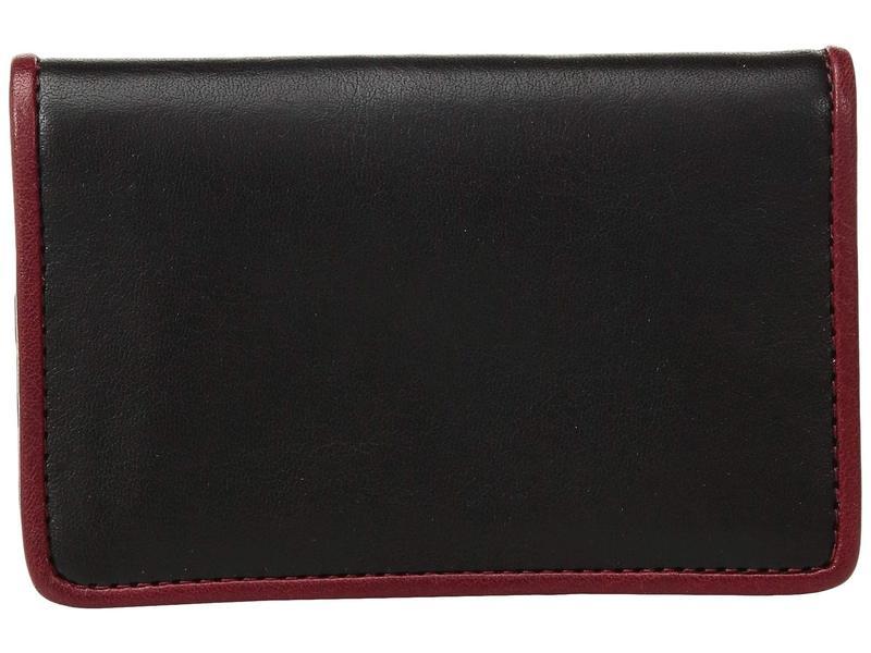 ボスカ メンズ 財布 アクセサリー Dolce Contrast - Calling Card Case Black/Red