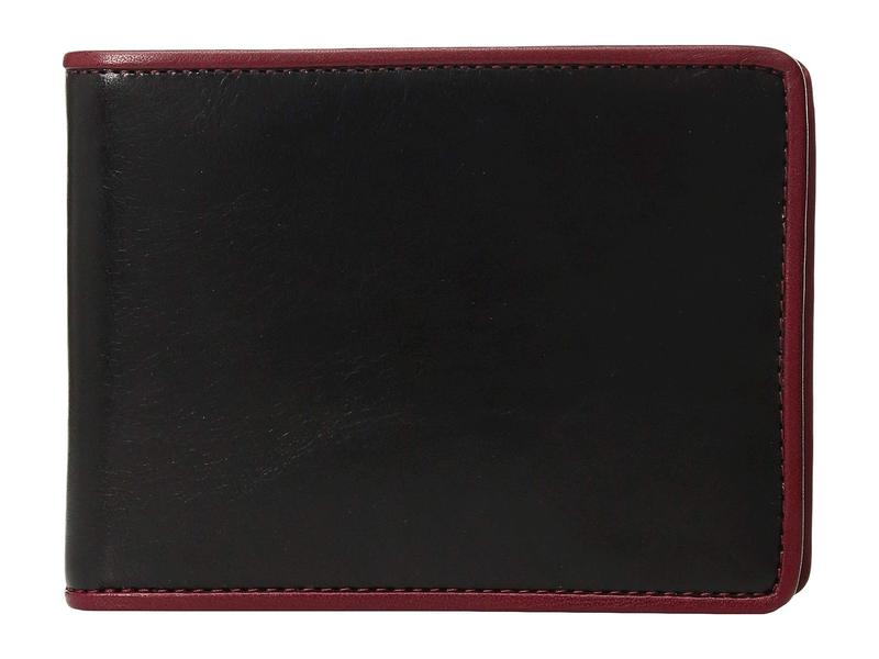 ボスカ メンズ 財布 アクセサリー Dolce Contrast Credit Wallet with Passcase Black/Red