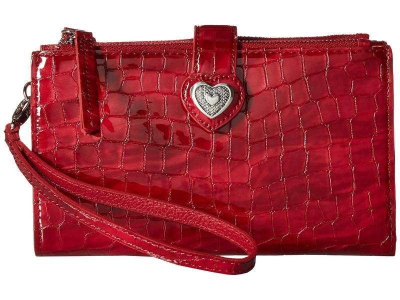 ブライトン レディース 財布 アクセサリー Bellissimo Heart Double Zip Wallet Lipstick