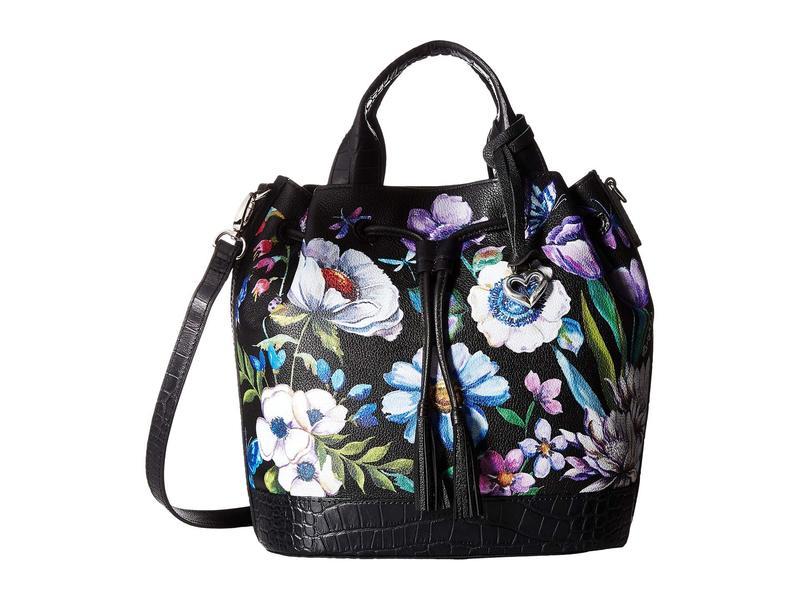 ブライトン レディース ハンドバッグ バッグ Tulip Drawstring Bucket Bag Black Multi