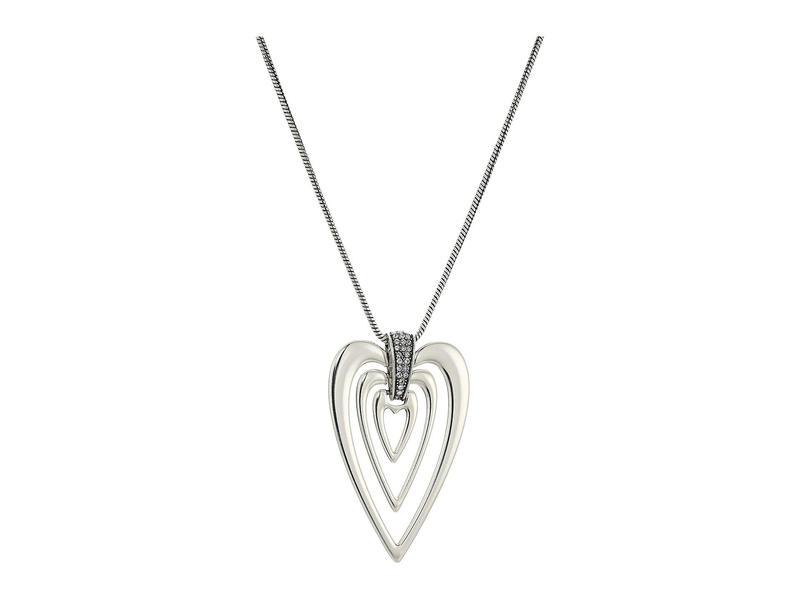 ブライトン レディース ネックレス・チョーカー・ペンダントトップ アクセサリー Meridian Swing Hearts Necklace Crystal