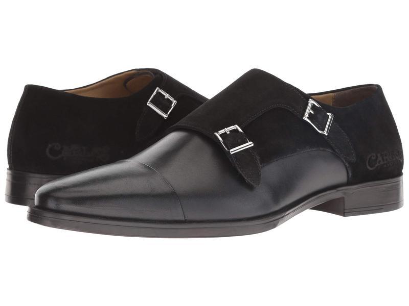 カルロスサンタナ メンズ オックスフォード シューズ Davis Black Calfskin Leather/Suede